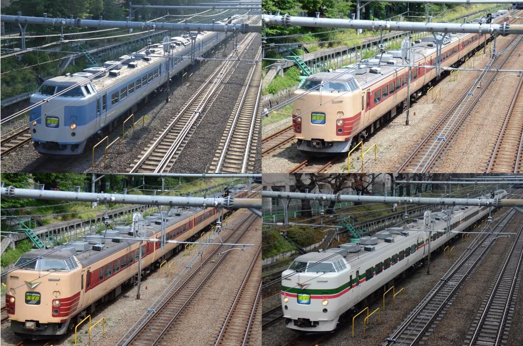 2014年中央線を走った電車たち 特急あずさ