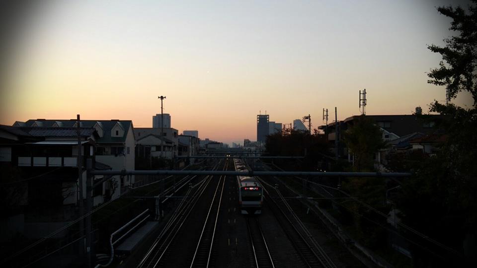 ある日の夕日。