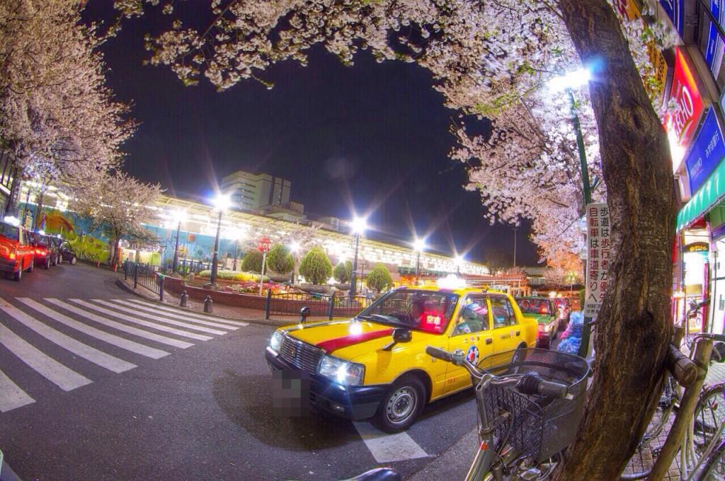 夜桜@開発前の中野駅北口