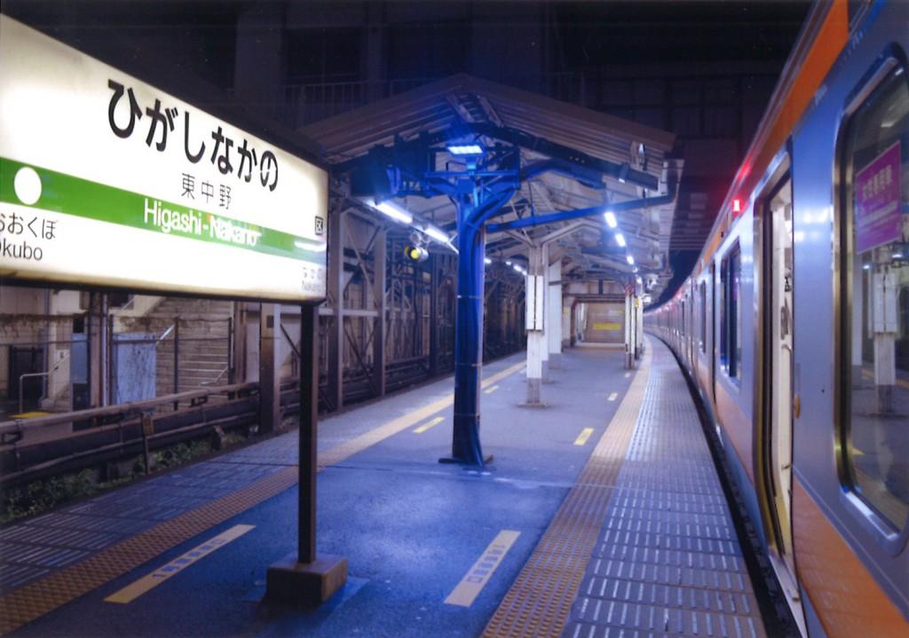 早朝の東中野駅