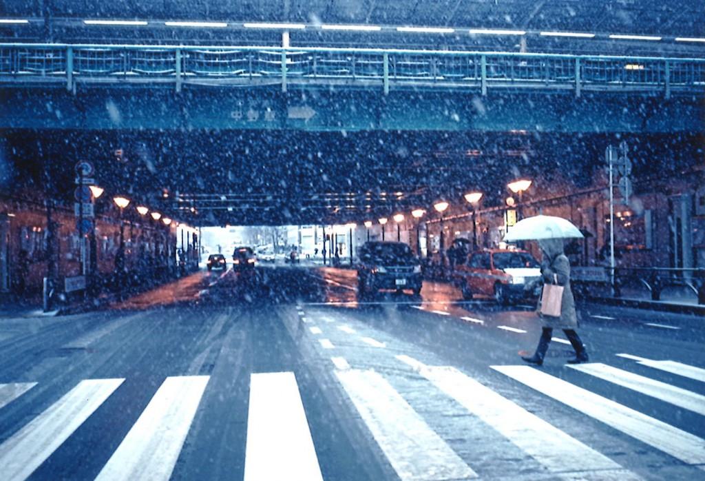雪降る中野